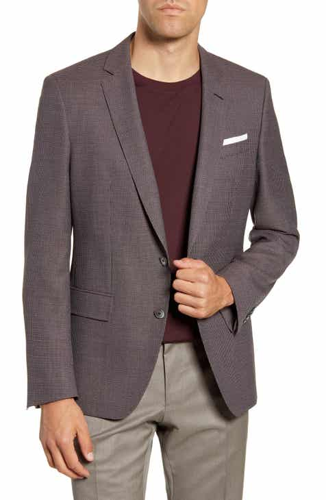 4f20d9256 BOSS Hutson Trim Fit Solid Wool Sport Coat