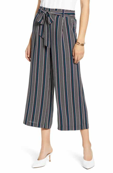 cc67280a Halogen® Wide Leg Crop Pants (Regular & Petite)