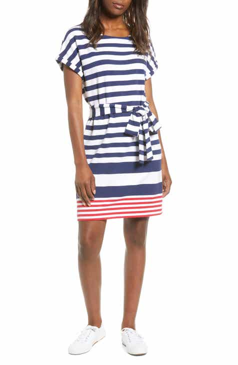 vineyard vines Sea Stripe UPF Tie Front Knit Dress