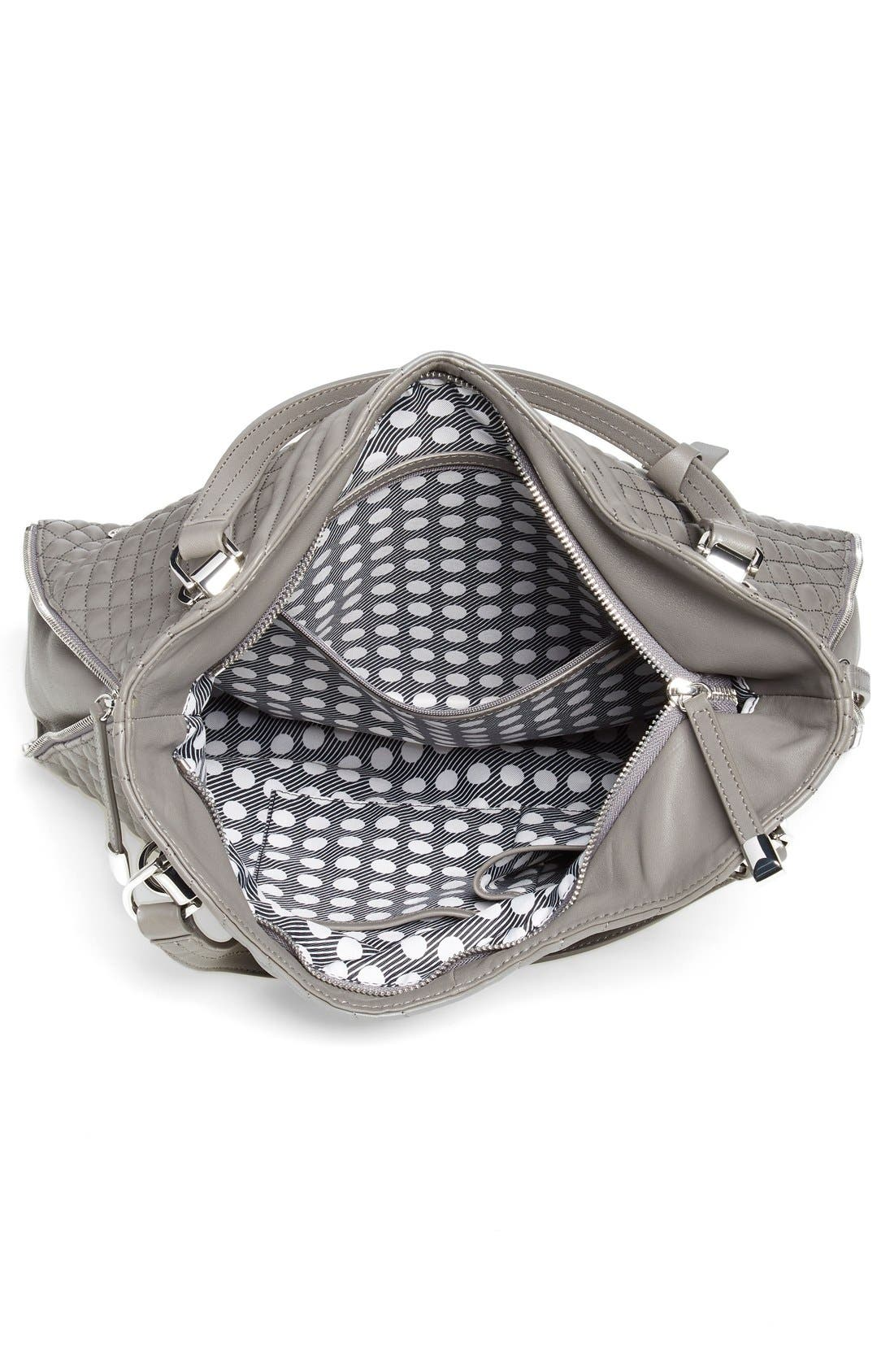 Alternate Image 4  - Vince Camuto 'Riley' Quilted Leather Tote