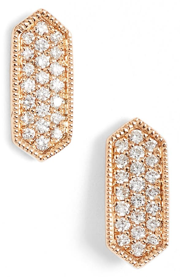 Main Image Dana Rebecca Designs Cynthia Rose Diamond Pavé Stud Earrings Nordstrom