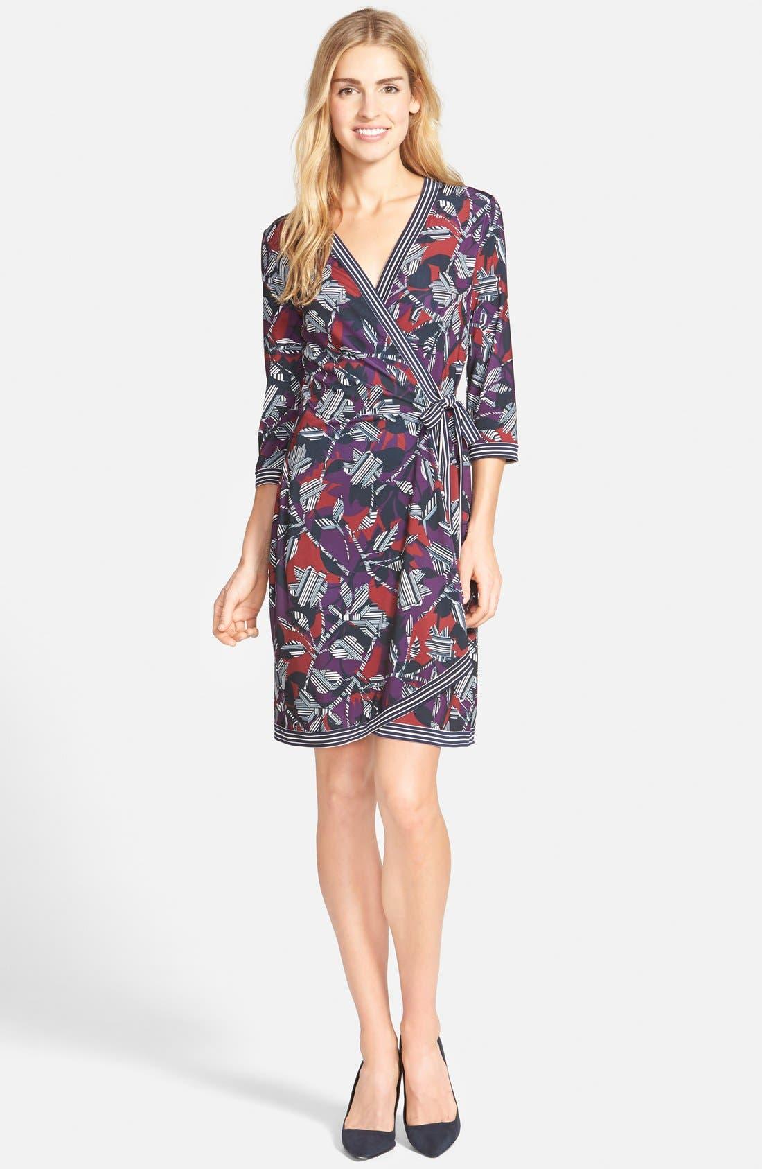 Alternate Image 3  - BCBGMAXAZRIA 'Adele' Print Matte Jersey Wrap Dress