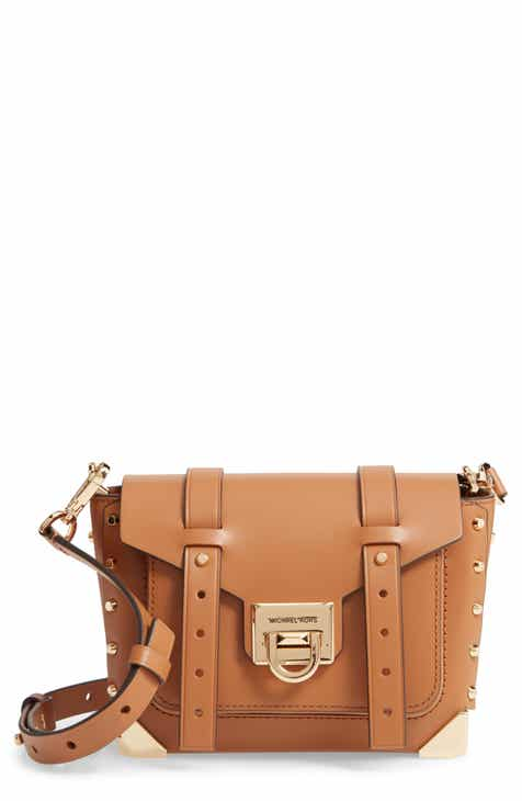 cf573f908f760 MICHAEL Michael Kors Small Manhattan Leather Crossbody Bag