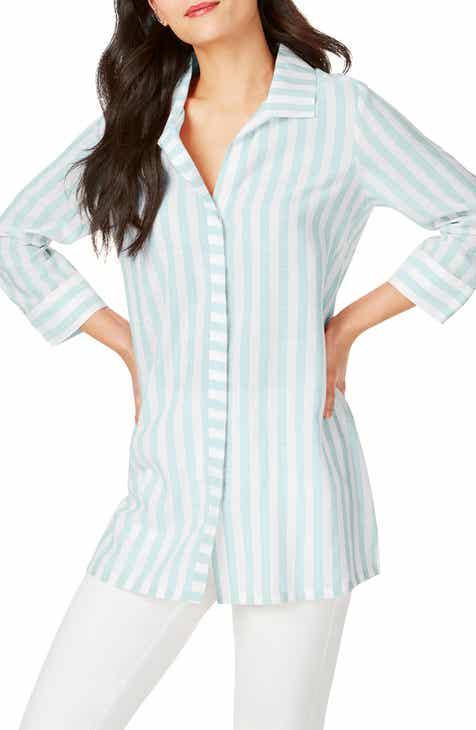 84d8f741757bcc Foxcroft Skye Stripe Tunic Shirt
