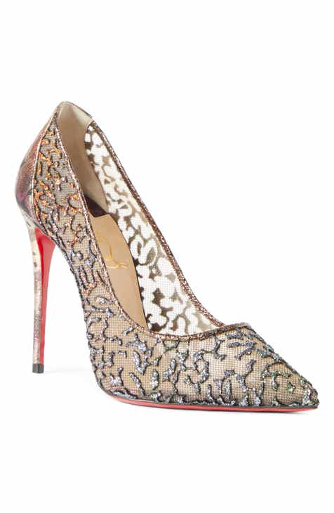 337d1e6da2 Christian Louboutin Follies Glitter Mesh Pump (Women)