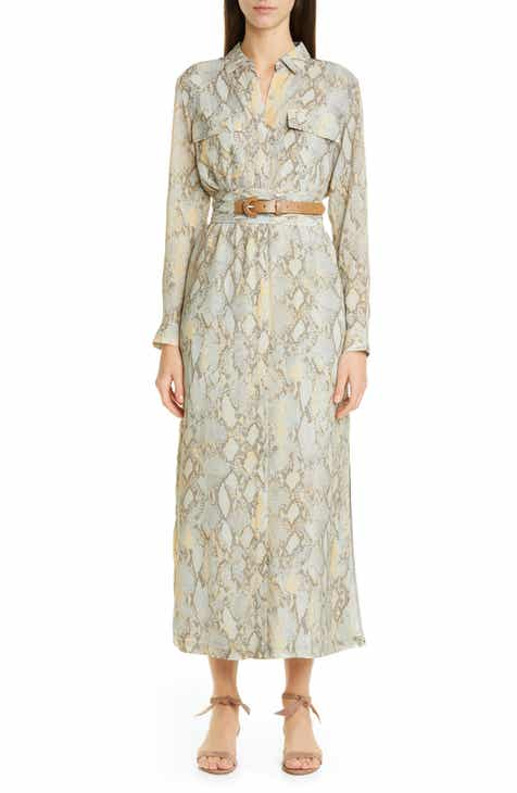 fc882e9fc492 Lafayette 148 New York Doha Belted Maxi Shirtdress