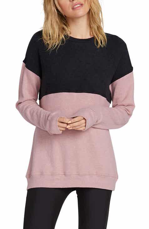 Volcom Lil Crew Colorblock Fleece Sweatshirt