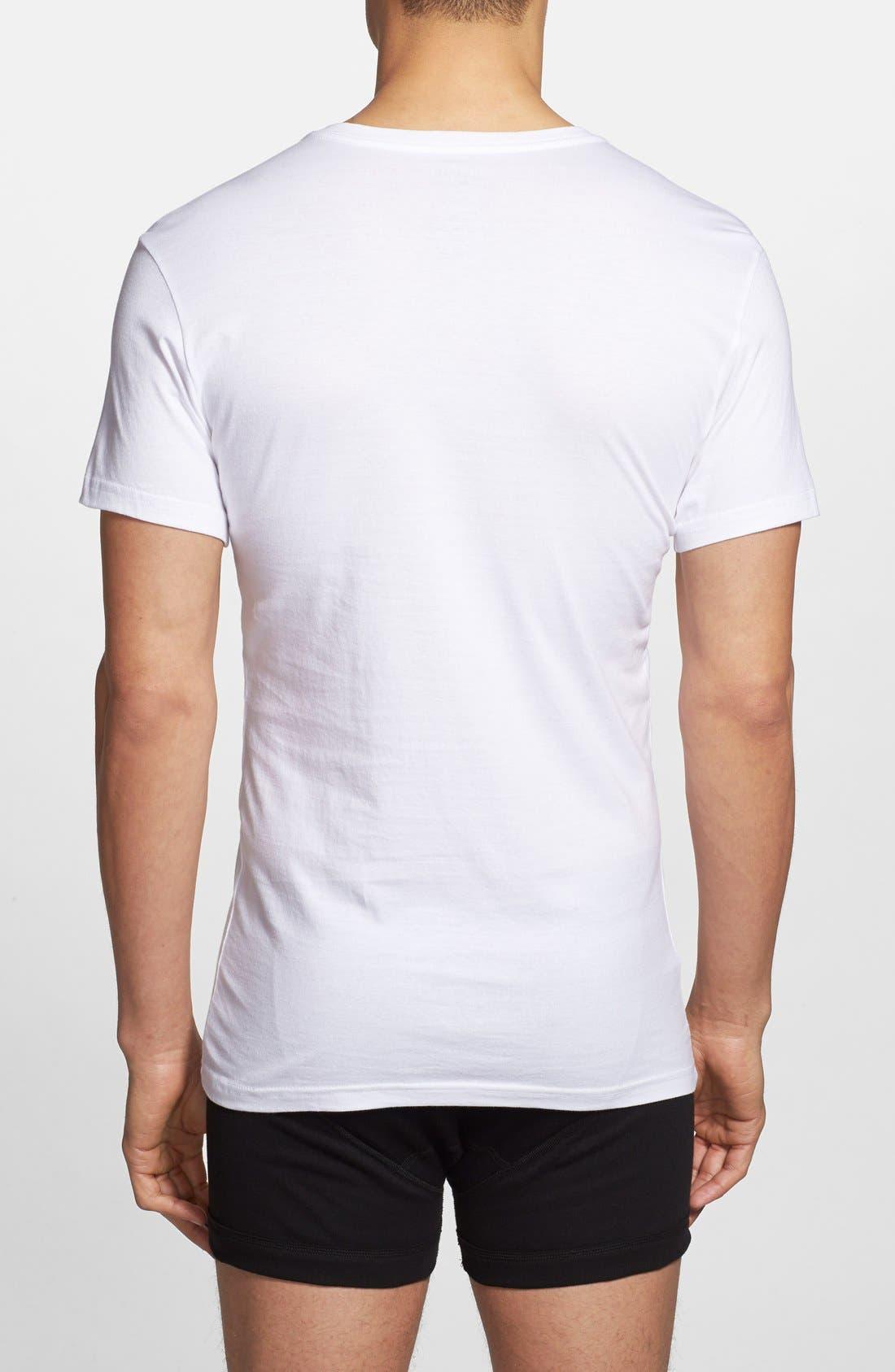 3-Pack Trim Fit T-Shirt,                             Alternate thumbnail 2, color,                             White/ White