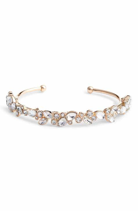 c9d4e11e3 Rachel Parcell Mixed Cut Crystal Cuff (Nordstrom Exclusive)