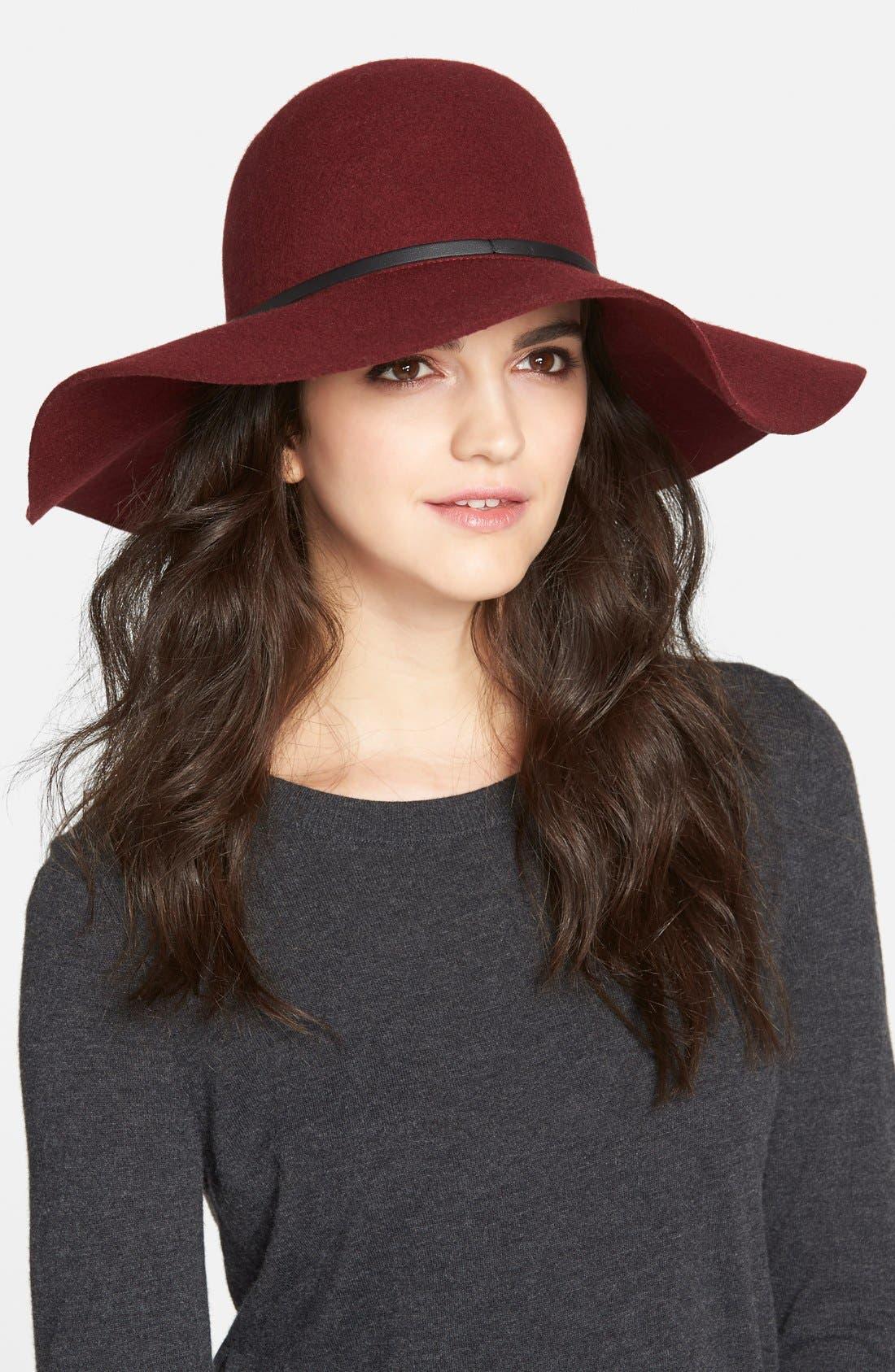 Main Image - Hinge Floppy Felt Hat