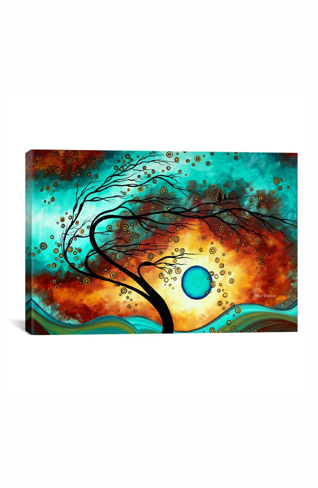 'Family Joy - Megan Duncanson' Giclée Print Canvas Art,                             Main thumbnail 1, color,                             Blue/ Green