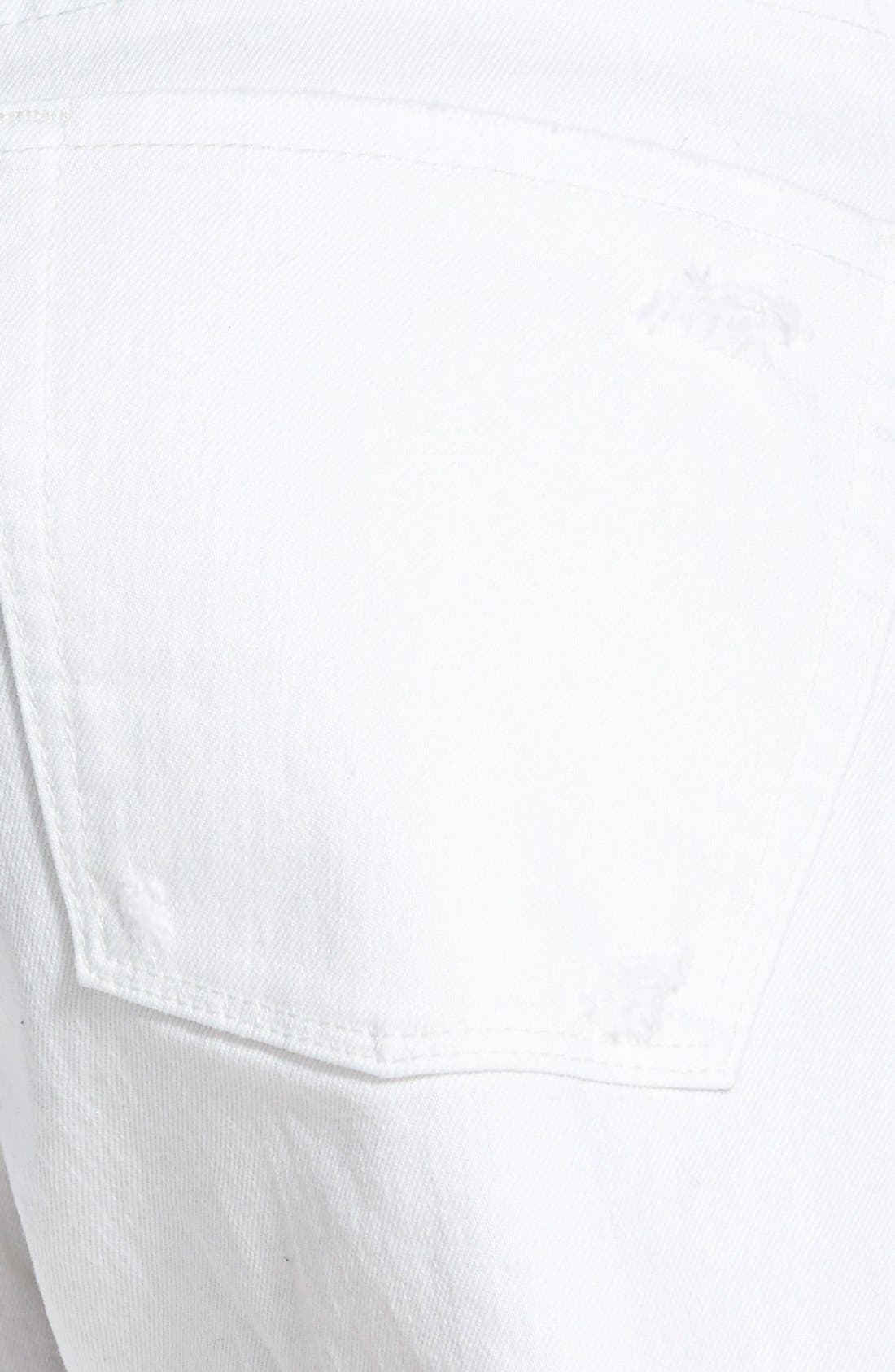 Alternate Image 3  - Treasure&Bond Cutoff Shorts (White Worn)