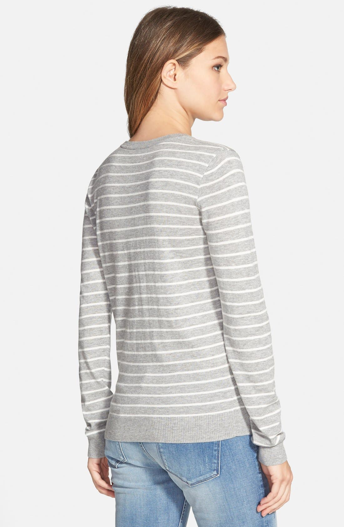 Alternate Image 2  - BP. Stripe V-Neck Pullover (Juniors)