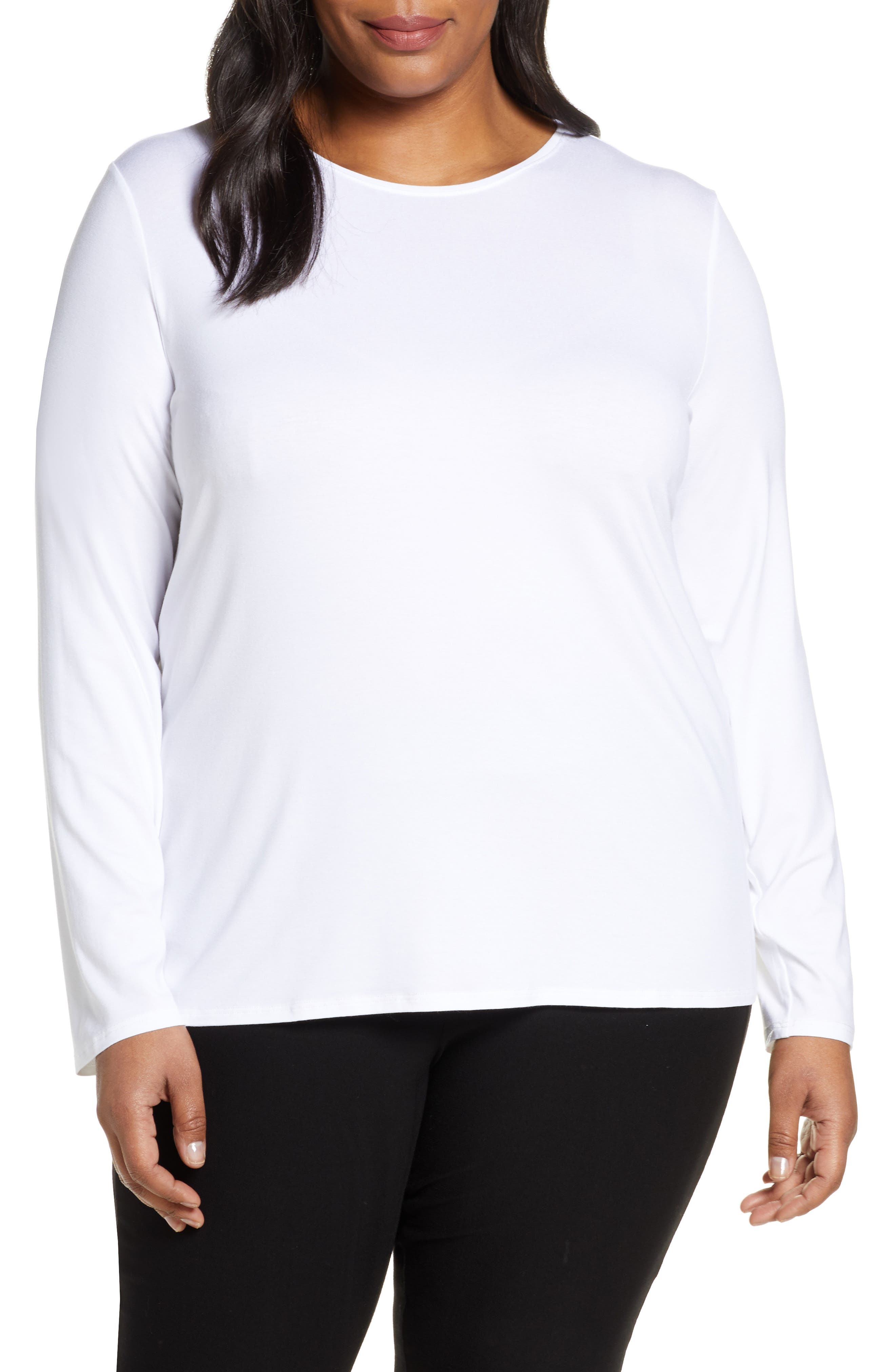 Land/'s End 100/% CASHMERE 2-PLY LS Jewel Nk Tee Top Sweater LS Petite /& Plus Size