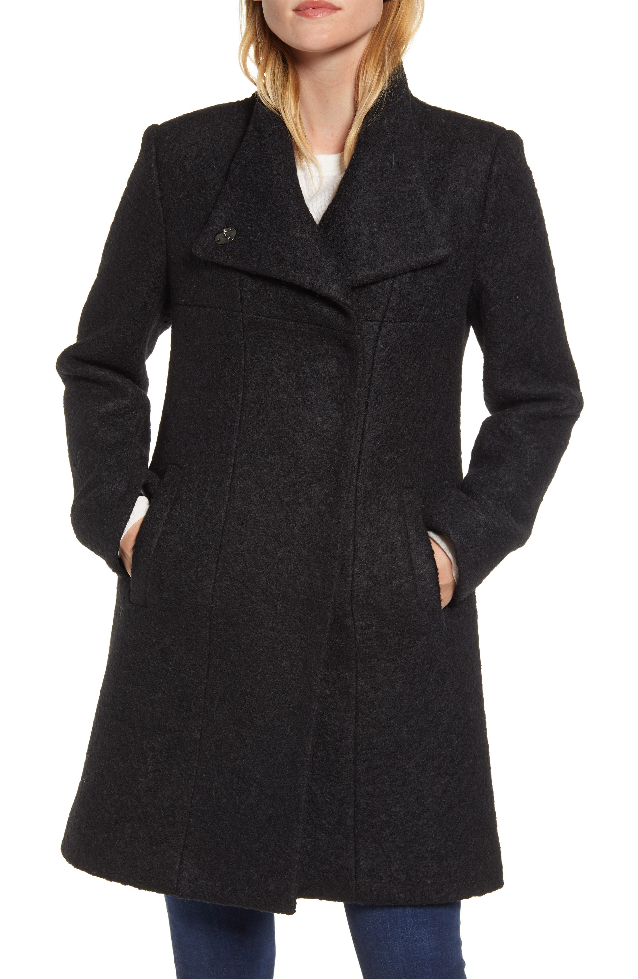 Maxi Coat Wool Coat Warm Winter Coat Long Black Coat Black Coat Ladies Winter Coat Long Coat XL Overcoat Pea Coat Winter Coat Women