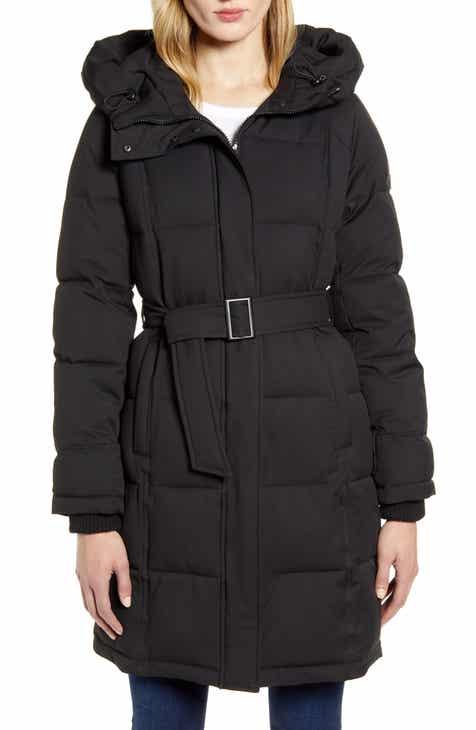 Sam Edelman Pillow Collar Belted Puffer Coat
