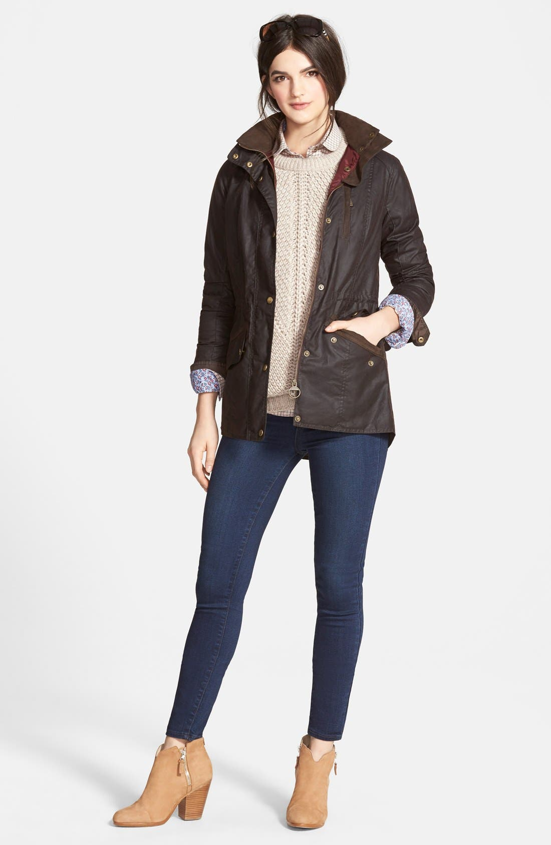Alternate Image 5  - Paige Denim 'Hoxton' High Rise Ultra Skinny Jeans (Takara) (Nordstrom Exclusive)