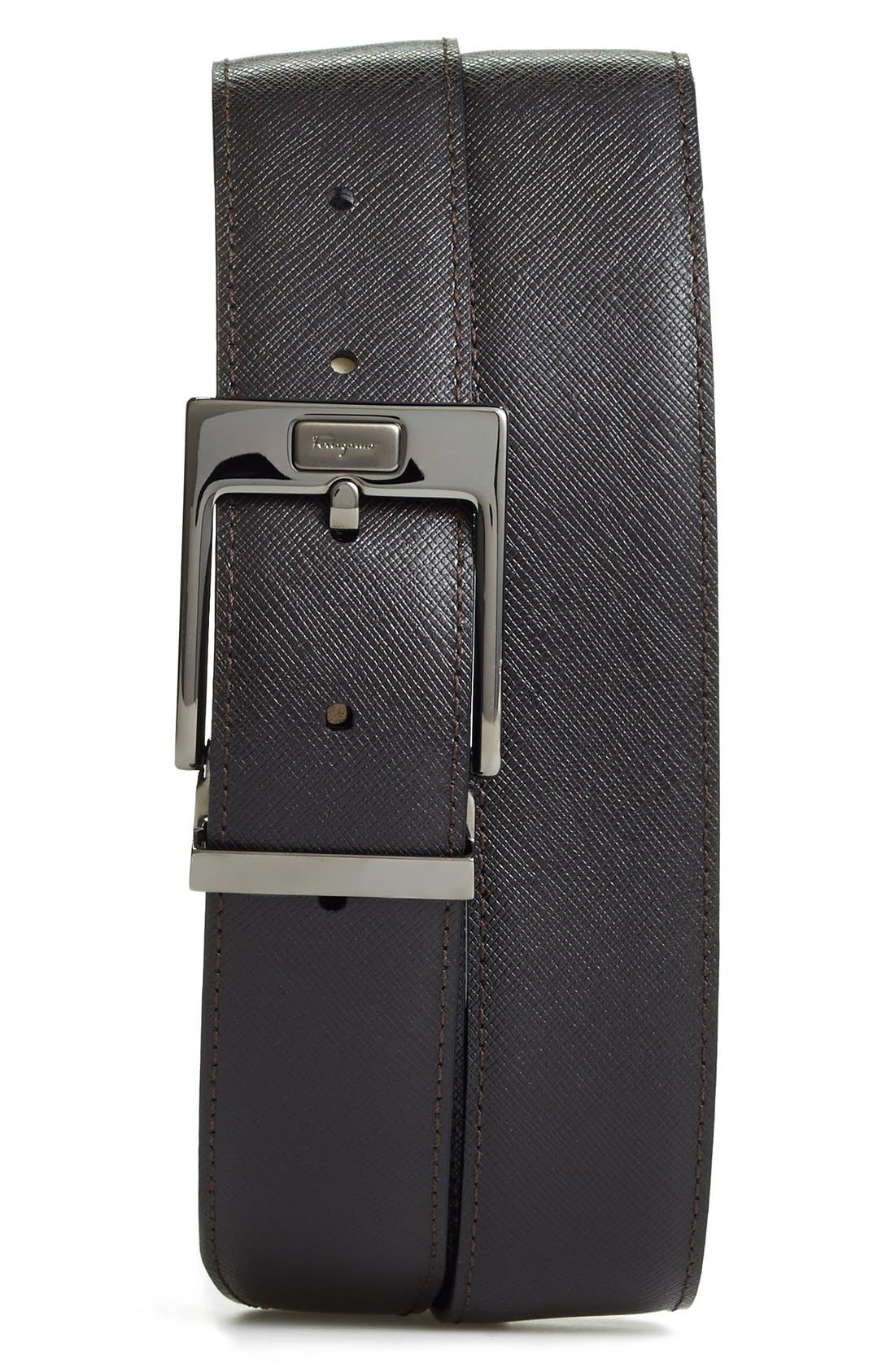 Alternate Image 2  - Salvatore Ferragamo Reversible Leather Belt