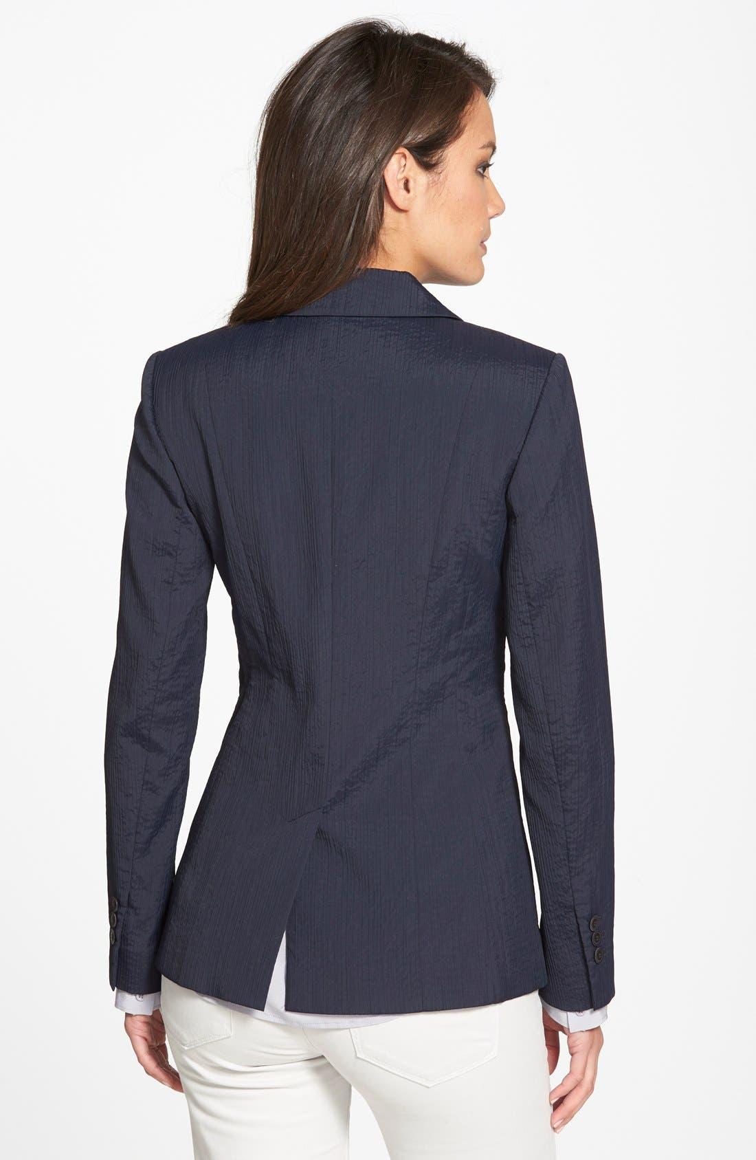 Alternate Image 2  - Classiques Entier® 'Valentina' Elongated Textured Blazer