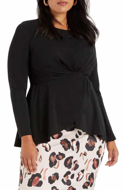 Women's Black Plus-Size Tops | Nordstrom