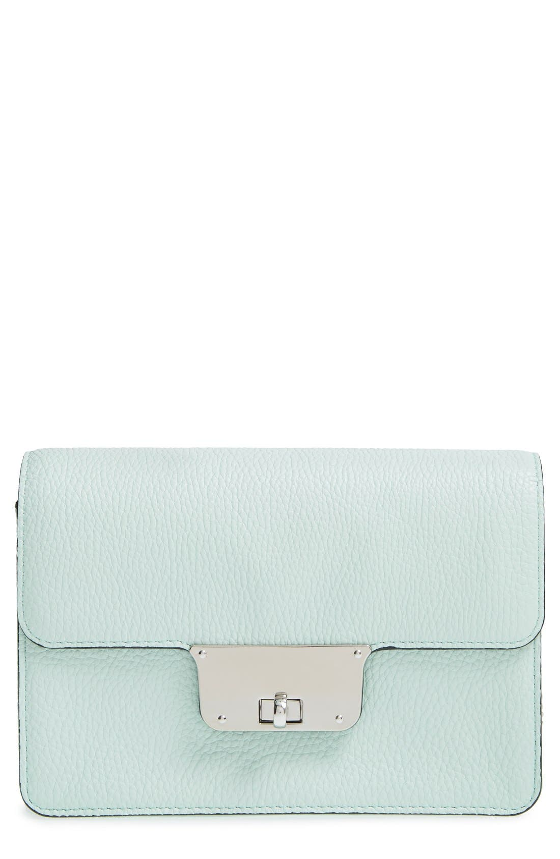 Alternate Image 1 Selected - Milly 'Mini Astor' Pebbled Leather Crossbody Bag
