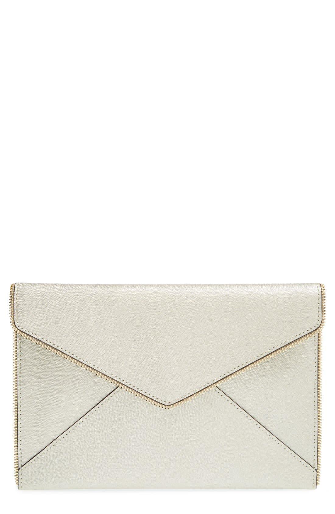 Alternate Image 1 Selected - Rebecca Minkoff 'Leo' Saffiano Leather Envelope Clutch