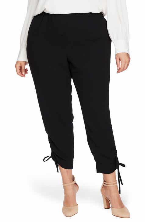 CeCe Side Ruched Pants (Plus Size)