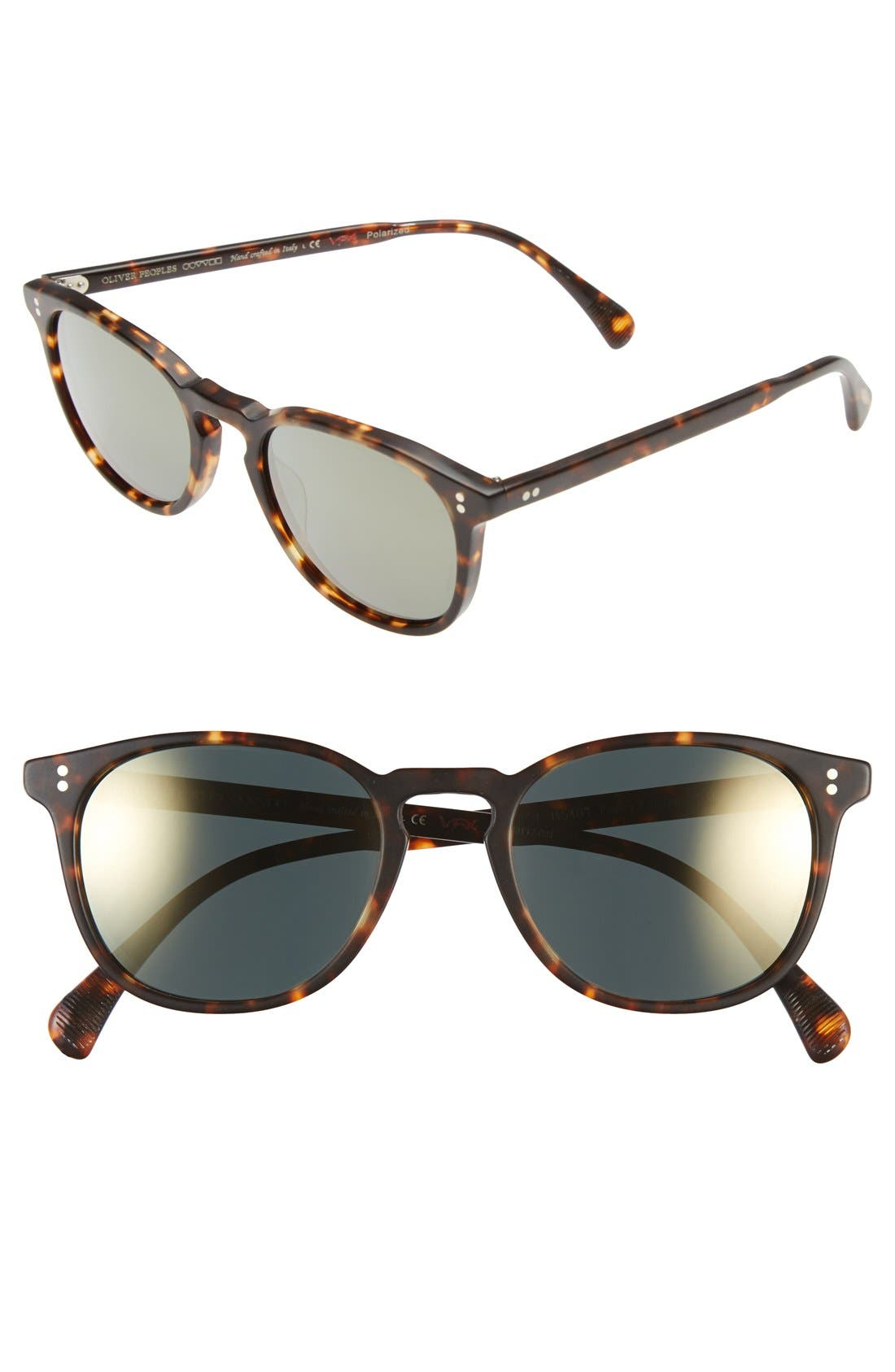 'Finley' 51mm Polarized Sunglasses,                             Main thumbnail 1, color,                             Brown/ Tortoise/ Gold Polar