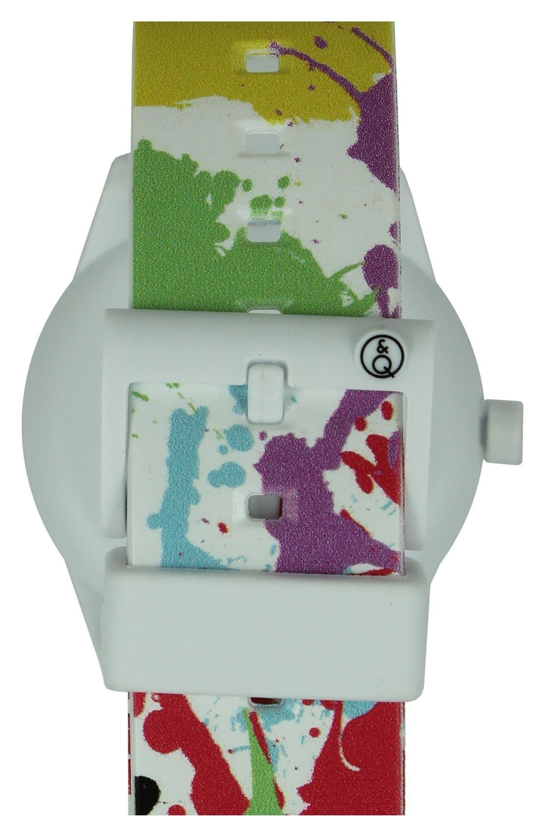 Alternate Image 2  - Quest & Quality 'SmileSolar' Solar Powered Strap Watch, 40mm