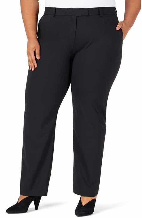 Pari Passu Classic Stretch Wool Trousers (Plus Size)