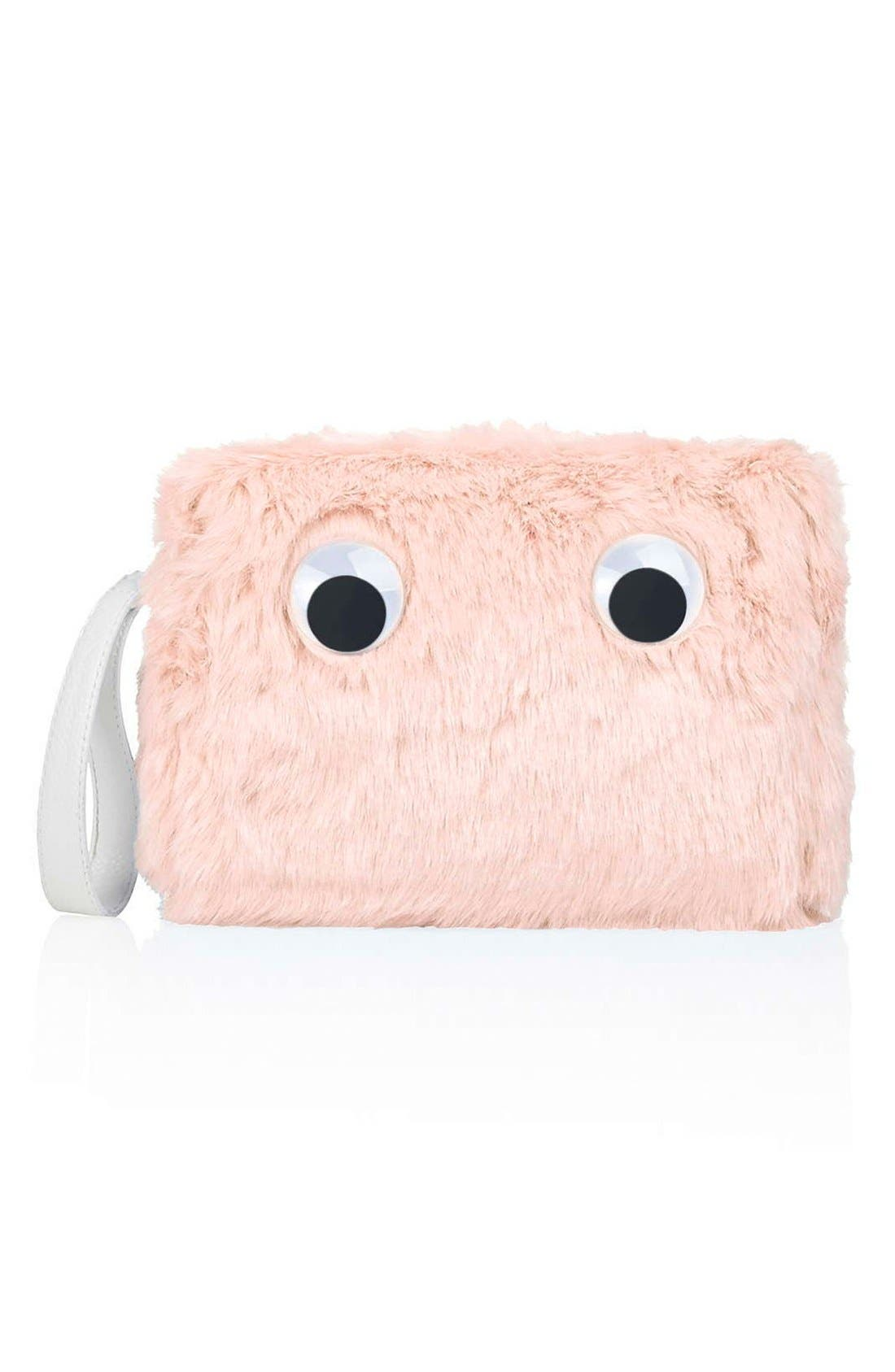 Main Image - Topshop Faux Fur Clutch