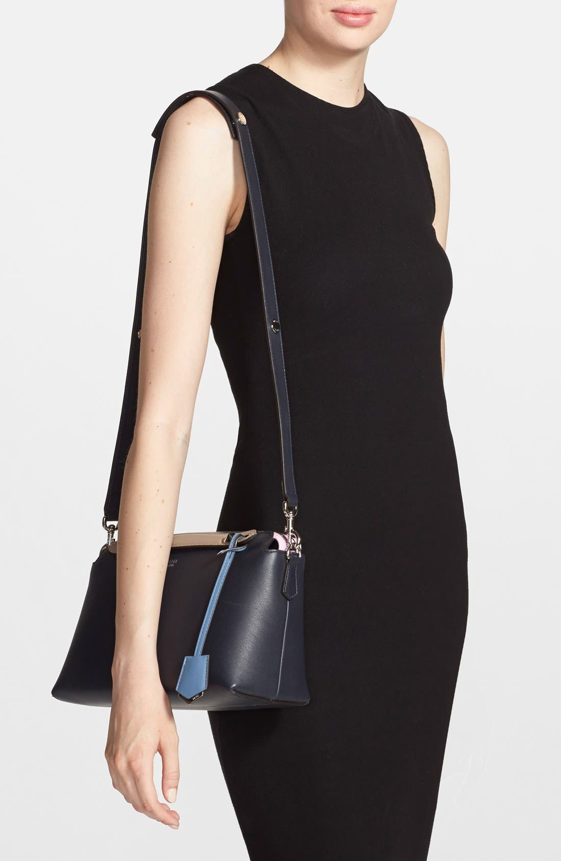 Alternate Image 2  - Fendi 'Small By the Way' Colorblock Leather Shoulder Bag