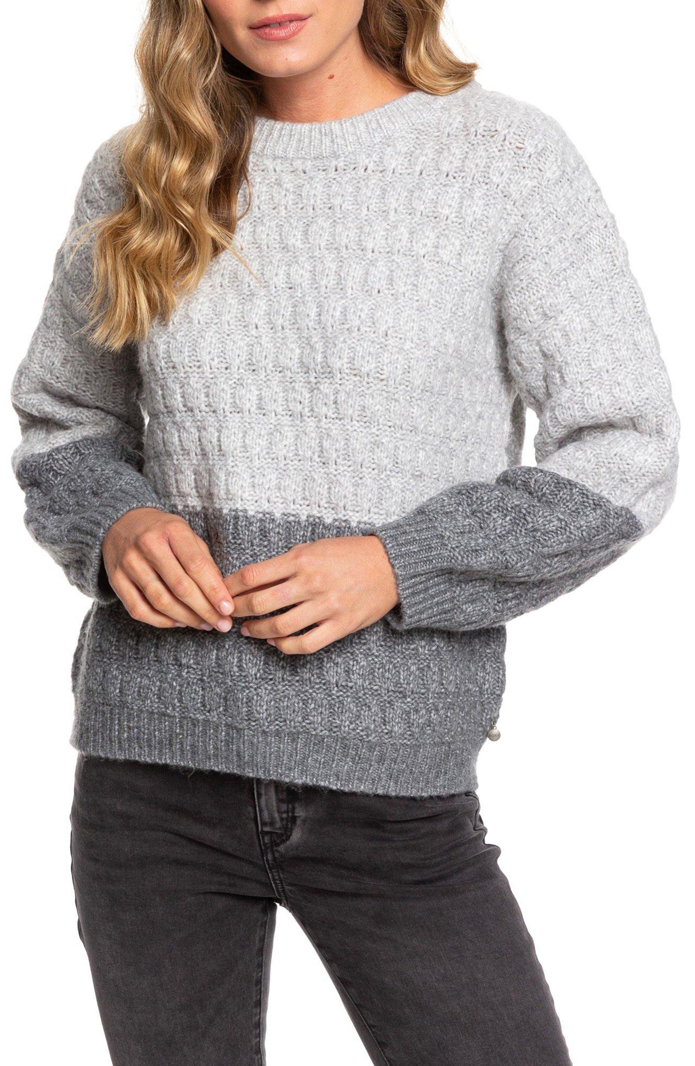 Roxy Womens White Caps Knit Sweater