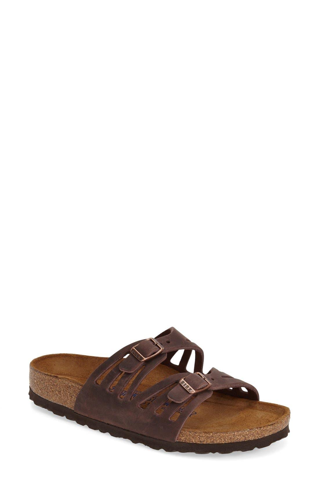 Birkenstock Granada Soft Footbed Oiled Leather Sandal (Women)