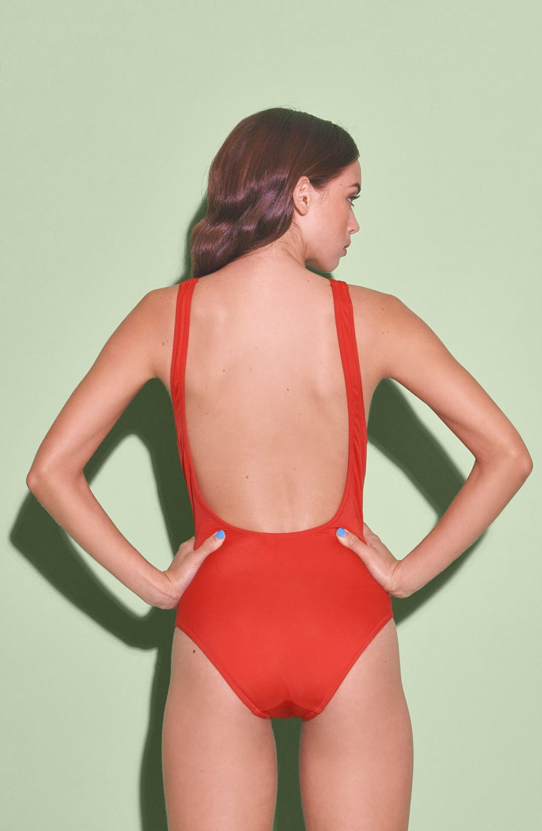 Alternate Image 2  - Solid & Striped 'Anne-Marie' One Piece Swimsuit (Women)
