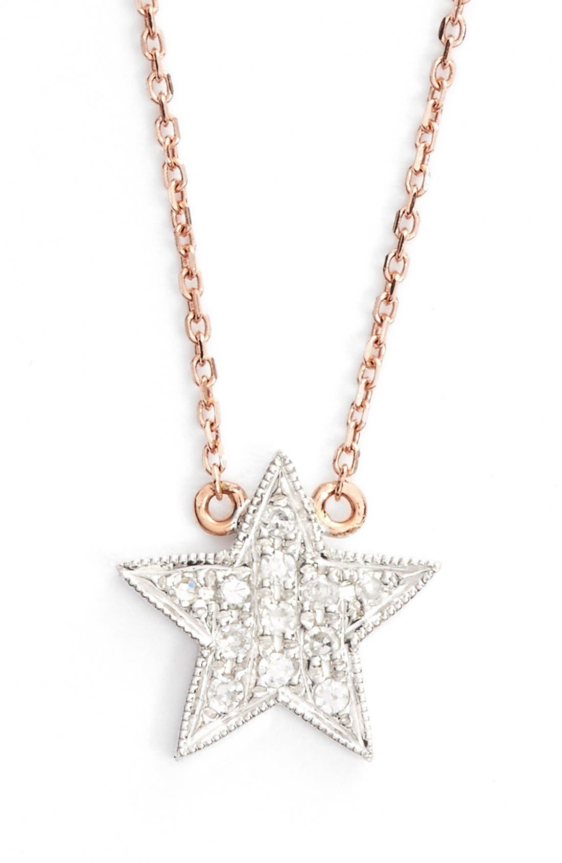 Alternate Image 1 Selected - Dana Rebecca Designs 'Julianne Himiko' Diamond Star Pendant Necklace