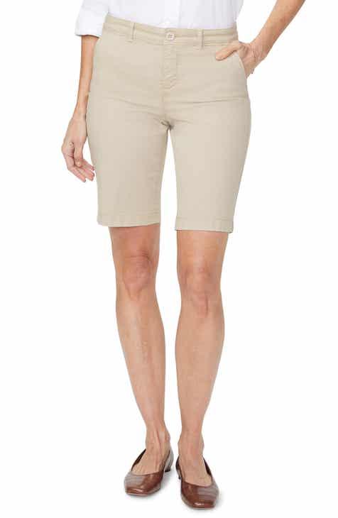 NYDJ Stretch Cotton Blend Twill Bermuda Shorts (Regular & Petite)