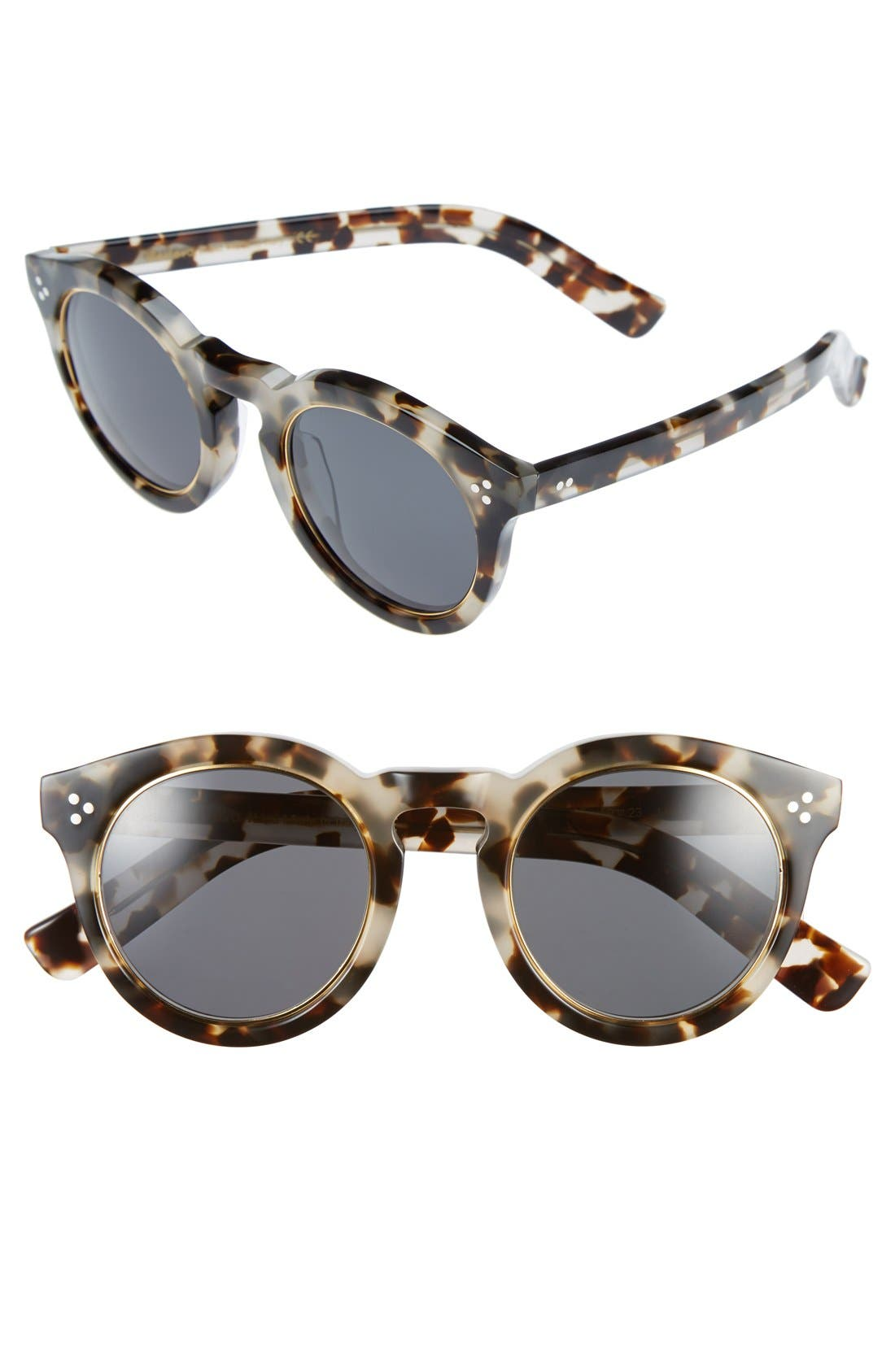 Main Image - Illesteva 'Leonard II' 50mm Round Mirrored Sunglasses