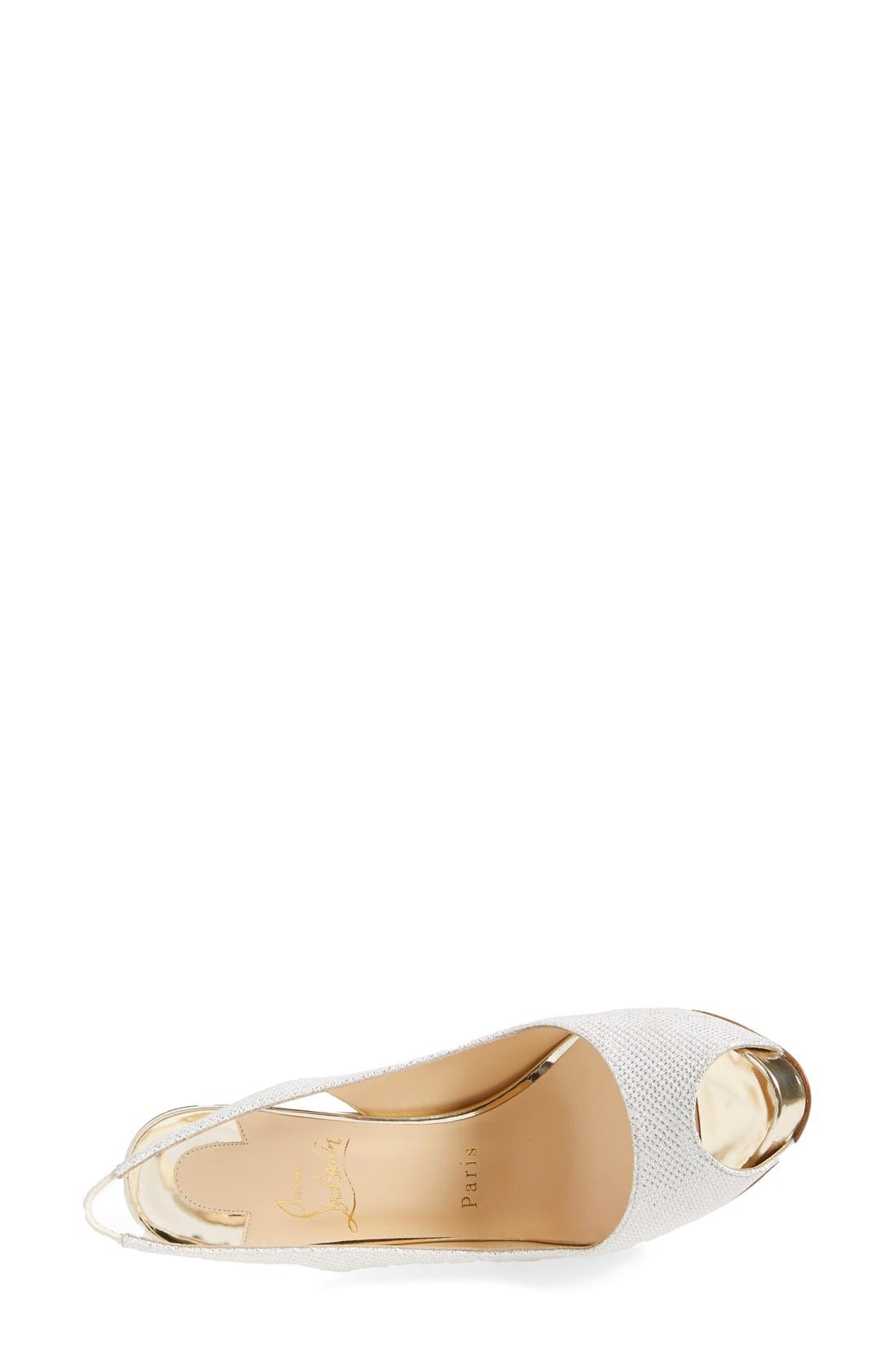 Alternate Image 3  - Christian Louboutin Peep Toe Slingback Pump