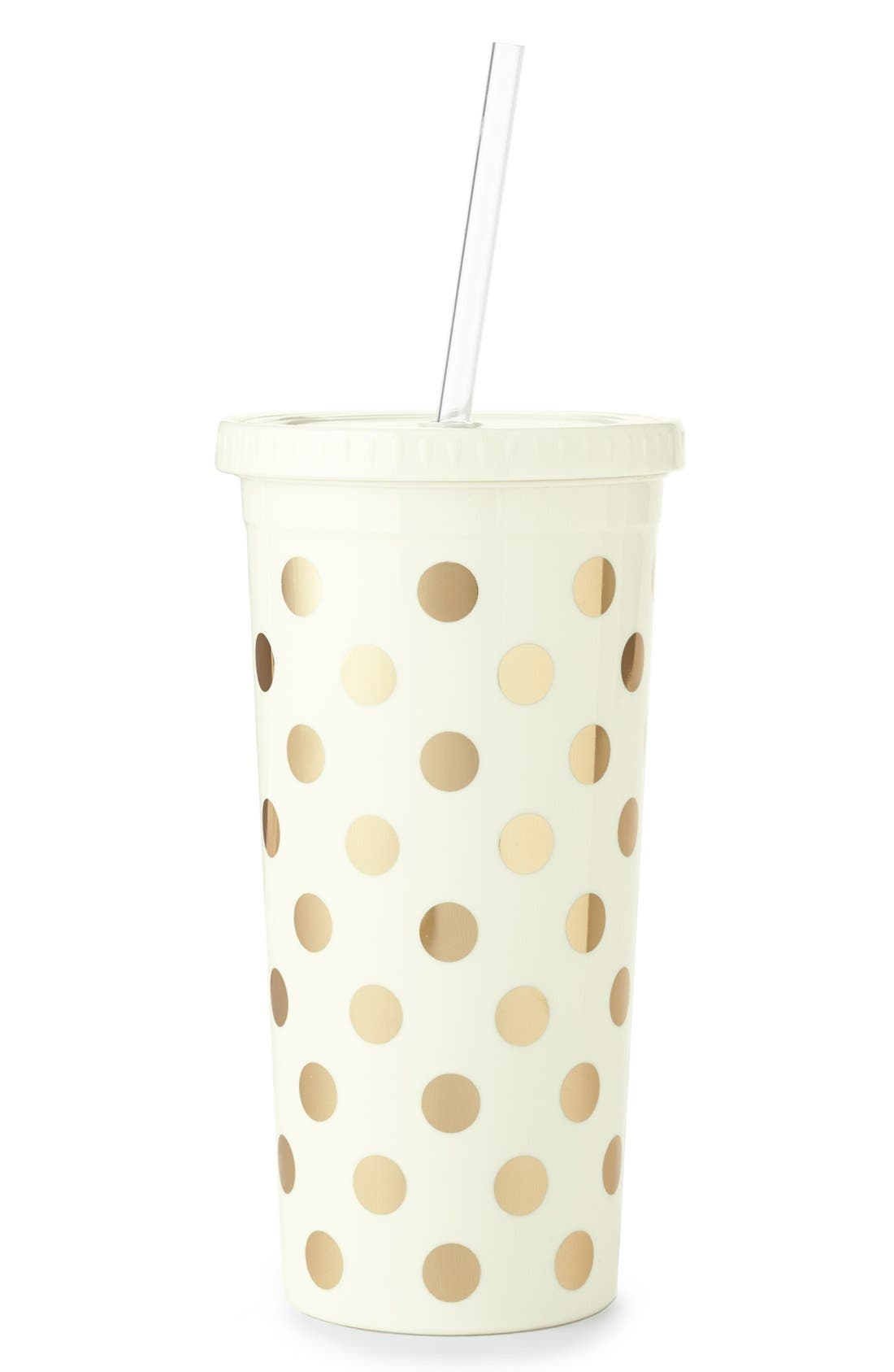 Alternate Image 1 Selected - kate spade new york gold dot insulated tumbler