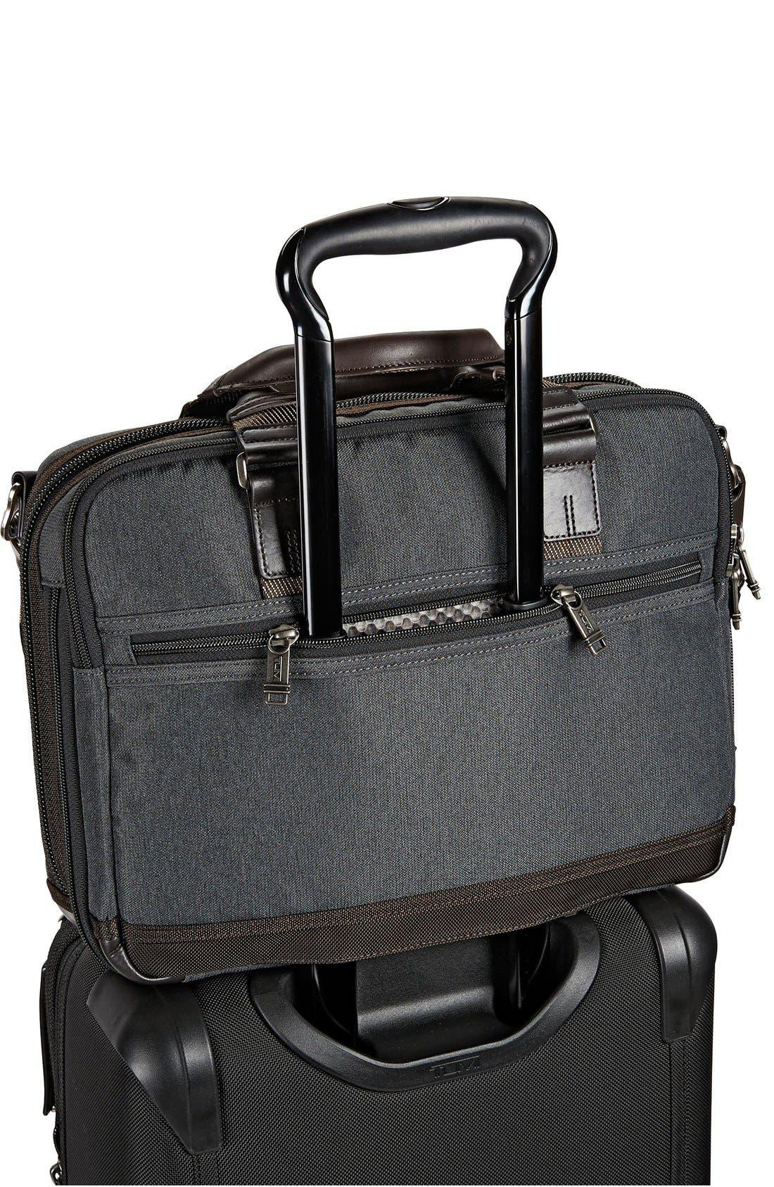 Alpha Bravo - Anderson Commuter Briefcase,                             Alternate thumbnail 3, color,                             Anthracite