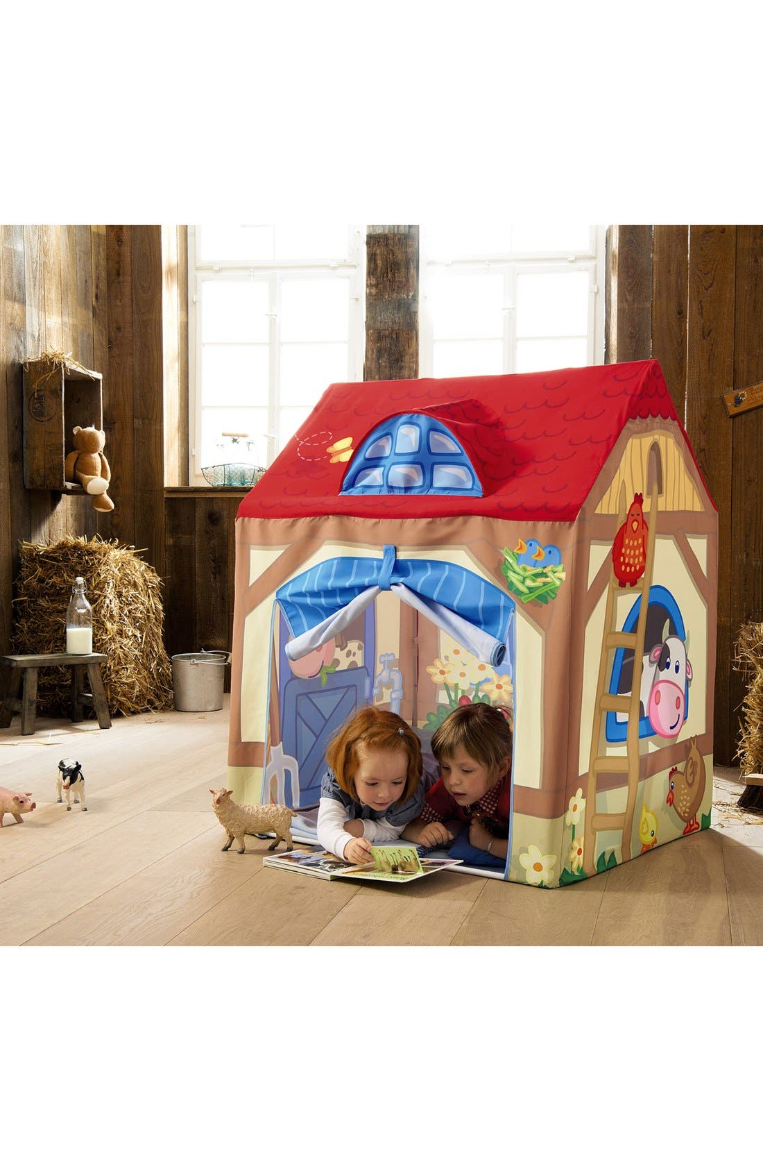 Farm Play Tent,                             Alternate thumbnail 3, color,                             Red