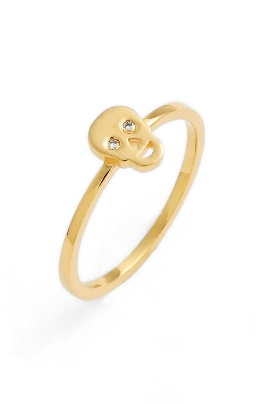 Alternate Image 1 Selected - Shy by SE Diamond Skull Midi Ring