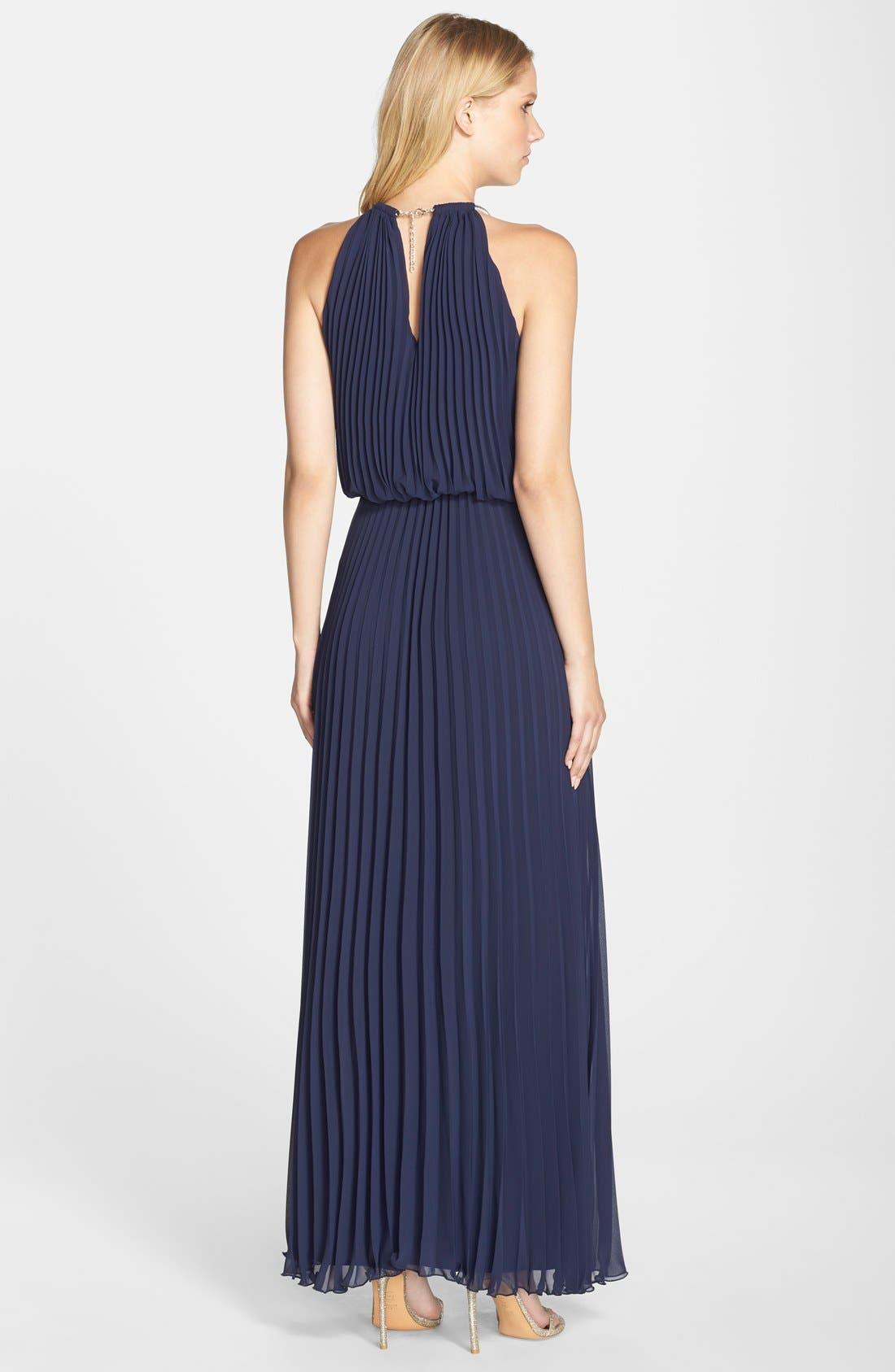 Alternate Image 2  - Xscape Pleat Cutaway Blouson Dress