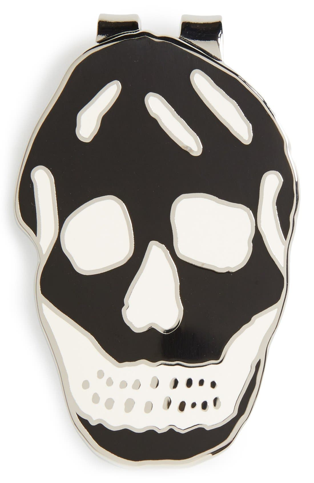 Skull Money Clip,                         Main,                         color, Black And White