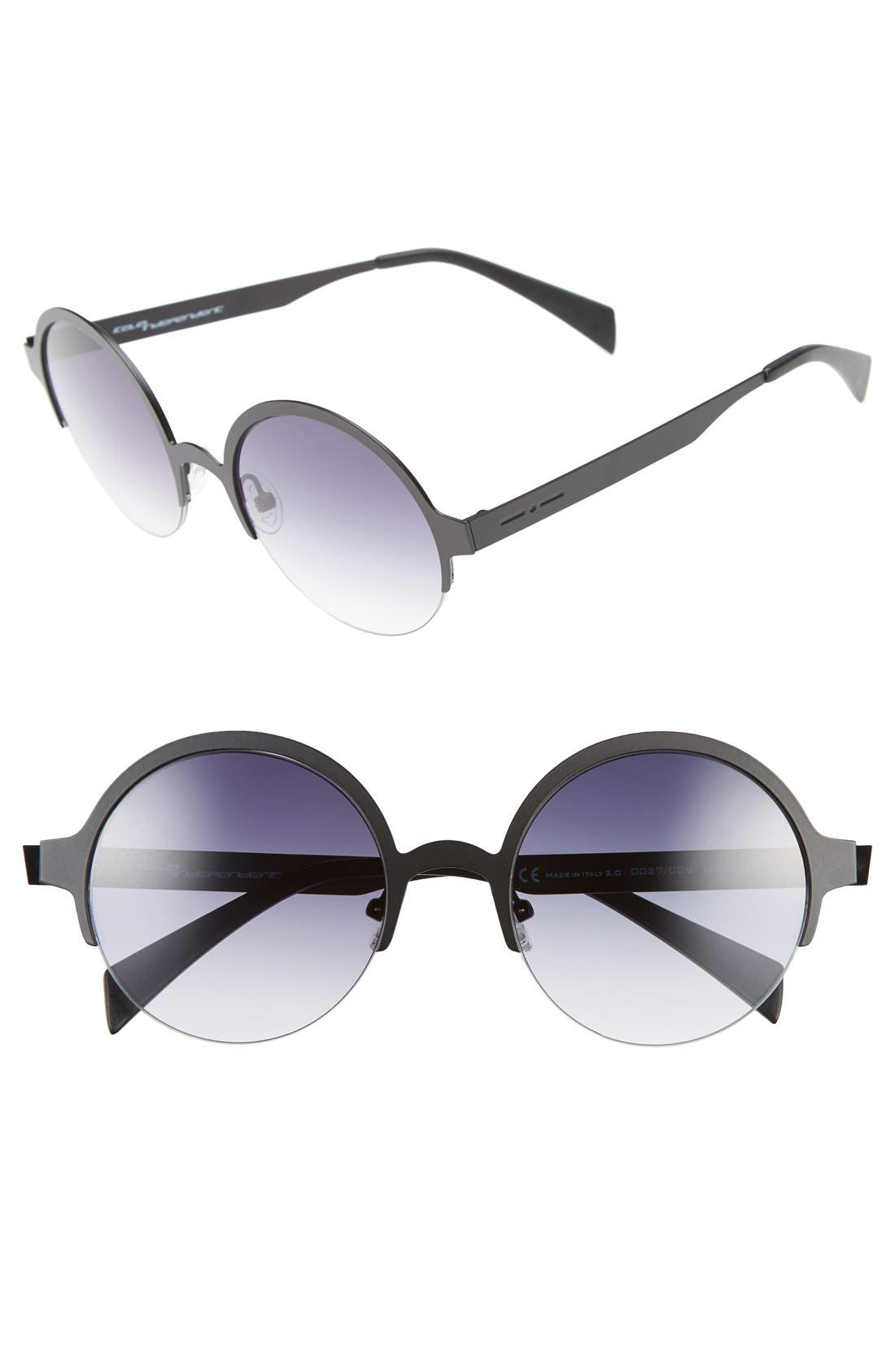 Alternate Image 1 Selected - Italia Independent 51mm Semi Rimless Sunglasses
