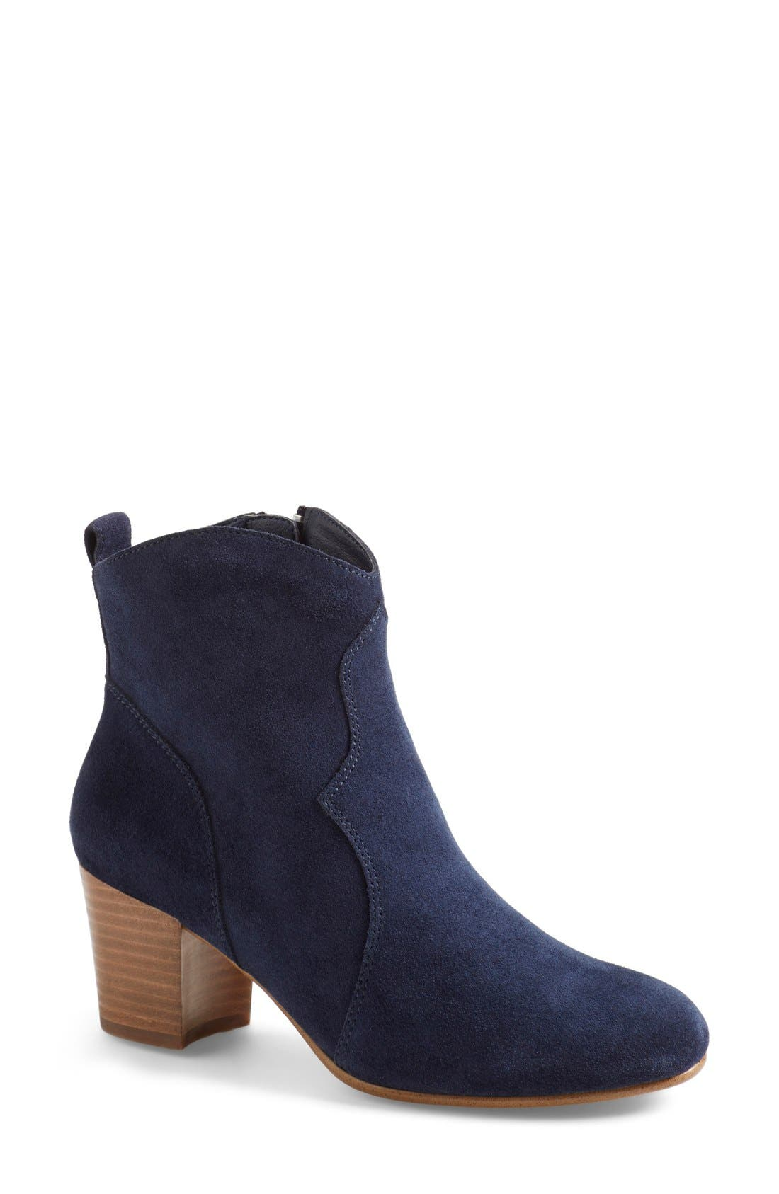 'Hipstr' Bootie,                             Main thumbnail 1, color,                             Navy Suede