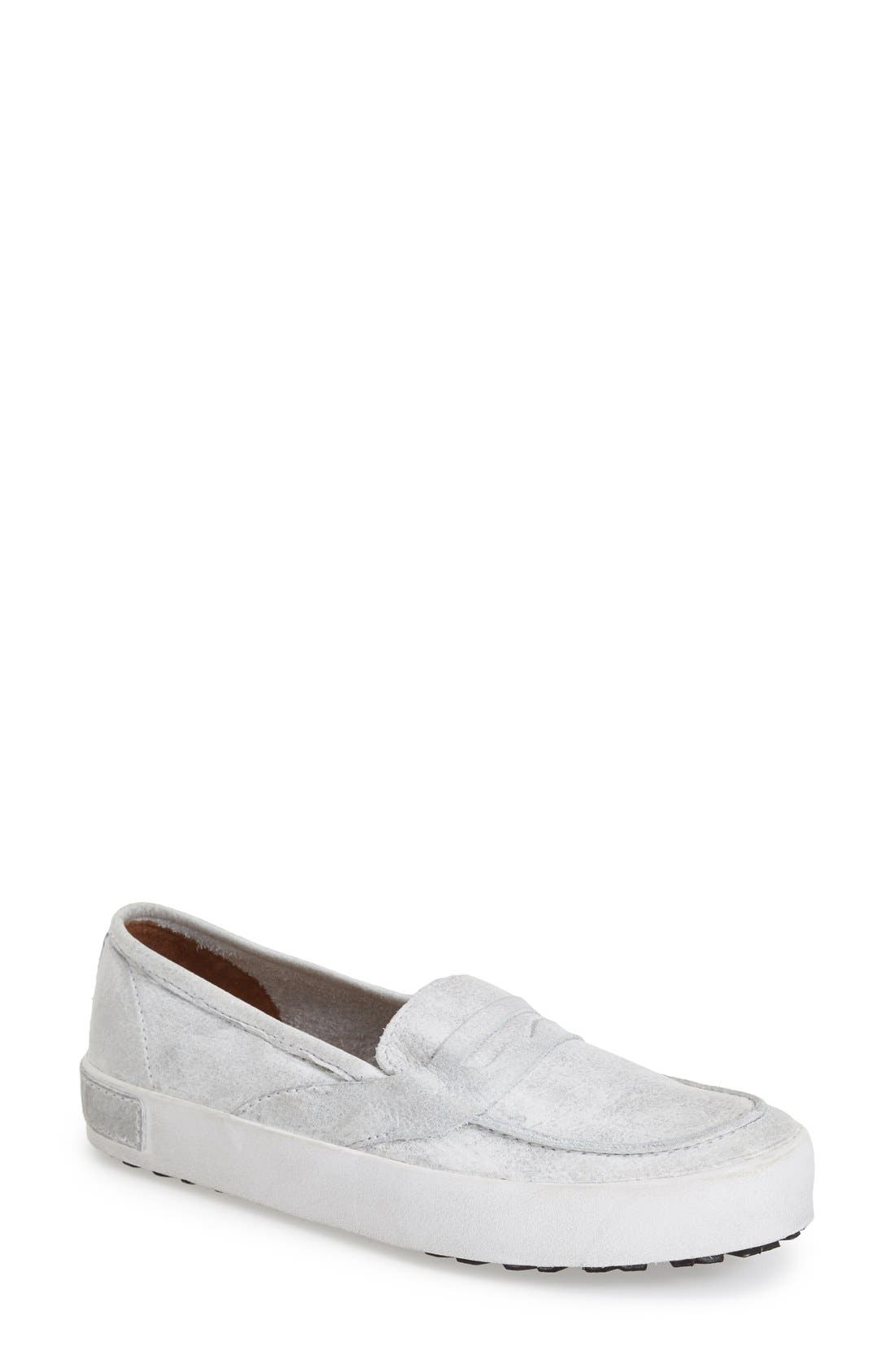 'JL23' Slip-On Sneaker,                             Main thumbnail 1, color,                             White Metallic