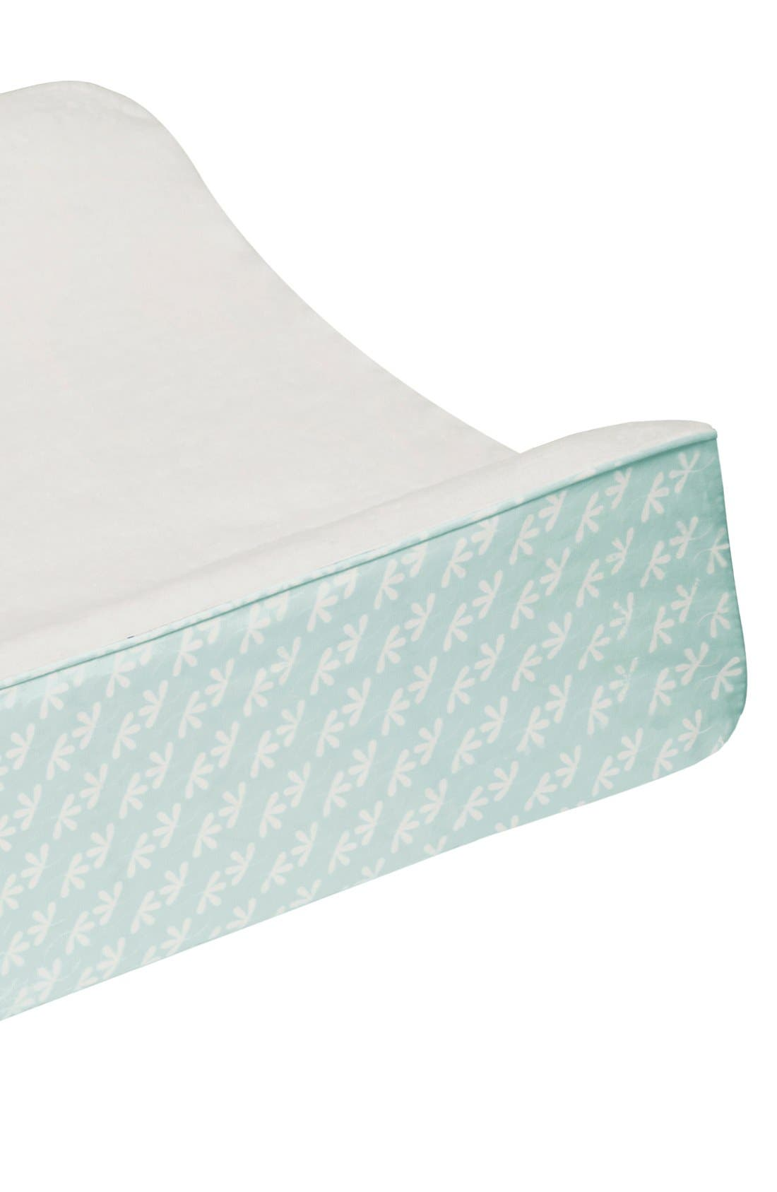 'Flora' Crib Sheet, Crib Skirt, Changing Pad Cover, Blanket & Wall Decals,                             Alternate thumbnail 6, color,                             Blue