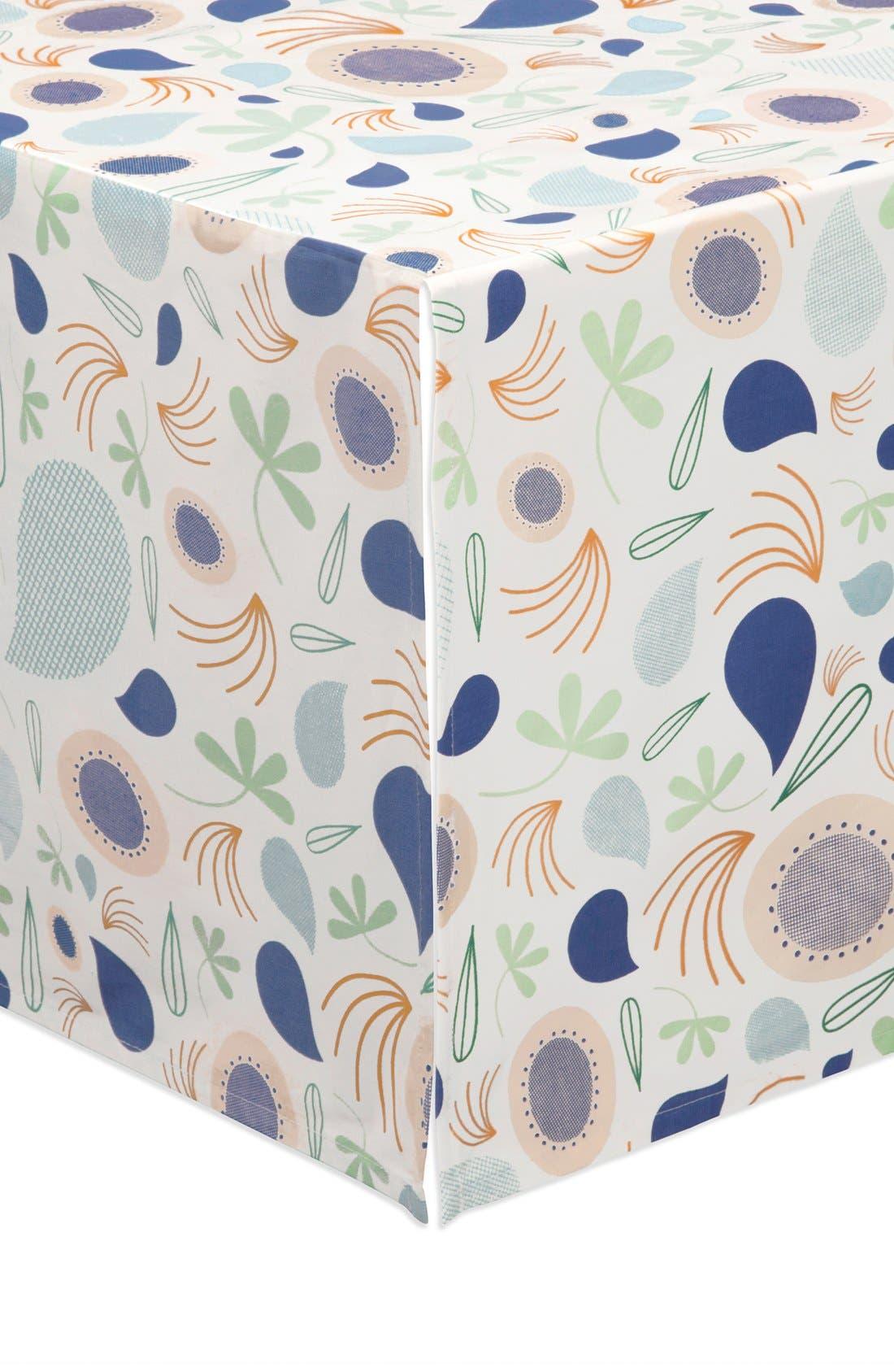 'Flora' Crib Sheet, Crib Skirt, Stroller Blanket & Wall Decals,                             Alternate thumbnail 4, color,                             Blue